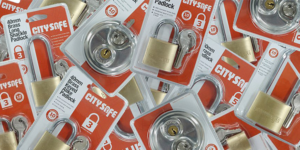 Secure valuables with the low cost CitySafe padlock!