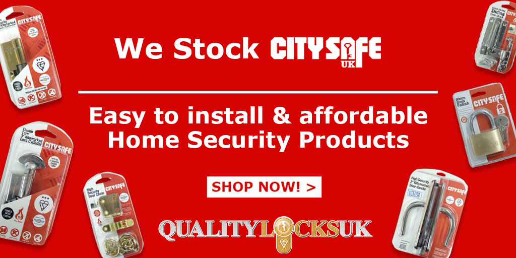 We stock CitySafe UK Home Security products