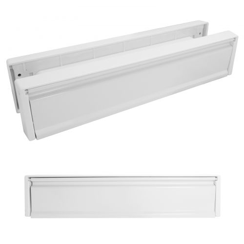 12 Inch Letterboxes - White Frame