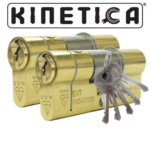 Kinetica High Security Double 3* Kitemarked Keyed Alike Euro Cylinders
