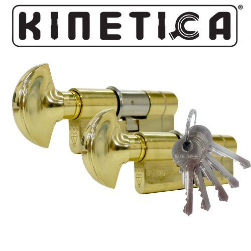 Kinetica High Security Thumb Turn 3* Kitemarked Keyed Alike Euro Cylinders