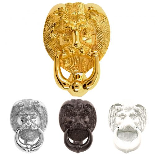Lion's Head Door Knockers - Large and Small
