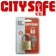 CitySafe 40mm Brass Padlock Standard shackle