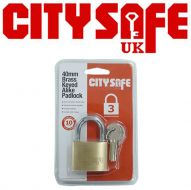 CitySafe 40mm Brass Keyed Alike Padlock