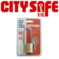 CitySafe 40mm Brass Padlock Long Shackle