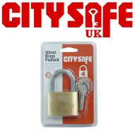 CitySafe 50mm Brass Padlock Standard shackle