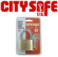 CitySafe 50mm Brass Keyed Alike Padlock