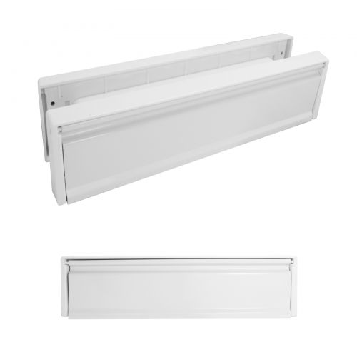 10 Inch Letterboxes - White Frame