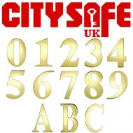 "CitySafe 3"" PVD Gold Self Adhesive Door Number / Letter"