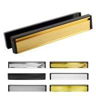 12 Inch Slimline Letterboxes - Black Frame