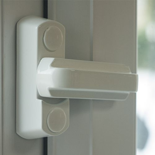 White Window Lock (Sash Jammer)