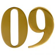 Polished Brass Self Adhesive Door Numbers
