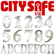 "CitySafe 3"" Mirror Polished Screw Fixed Door Number / Letter"