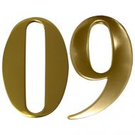 Anodised Gold Self Adhesive Door Numbers