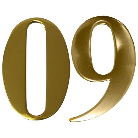 Anodised Gold Self Adhesive Door Numbers  sc 1 st  Quality Locks & Anodised Gold Self Adhesive Door Numbers | Door Letters