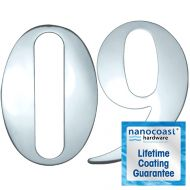 Mirror Polished Self Adhesive Door Numbers - Lifetime Coating Guarantee