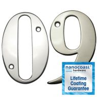 Mirror Polished Screw Fix Door Numbers - Lifetime Coating Guarantee