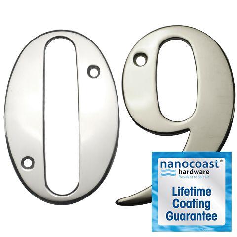 Mirror Polished Screw Fix Door Numbers - Lifetime Coating Guarantee
