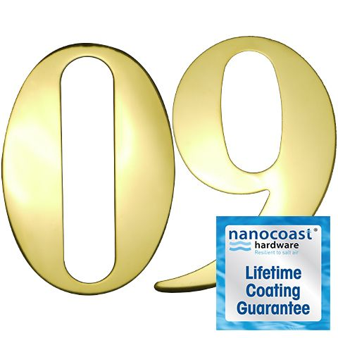 PVD Gold Self Adhesive Door Numbers - Lifetime Coating Guarantee
