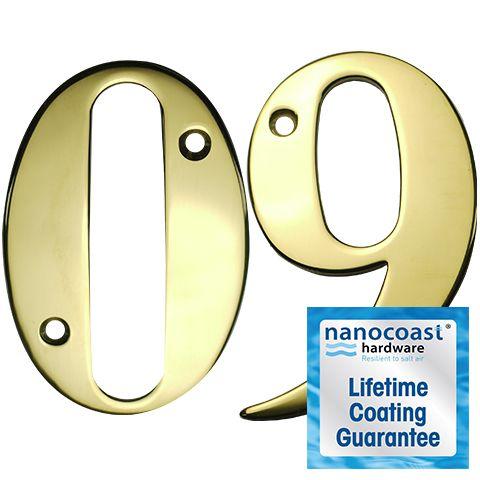 PVD Gold Screw Fix Door Numbers - Lifetime Coating Guarantee