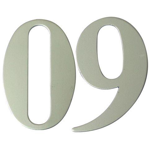 Anodised Silver Self Adhesive Door Numbers