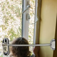 Chrome Lockable Window Restrictor - Clear Cable