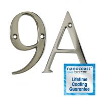 Mirror Polished Thin Screw Fix Door Numbers - Lifetime Coating Guarantee