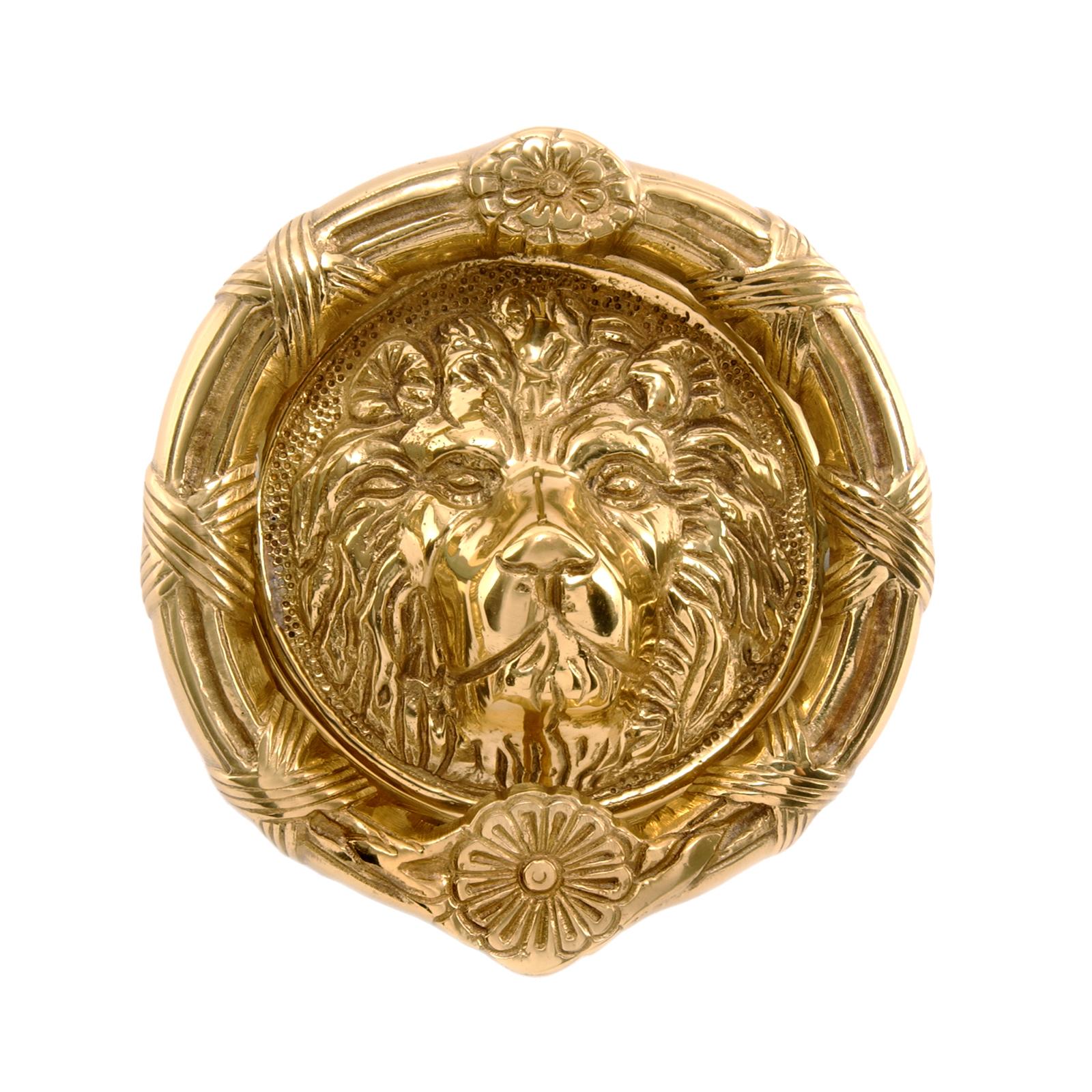 6 Inch Lions Head Round Door Knocker Click To Enlarge